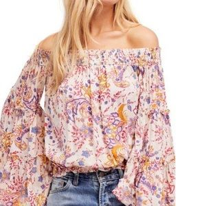 Free People Free Spirit off the shoulder top NWOT